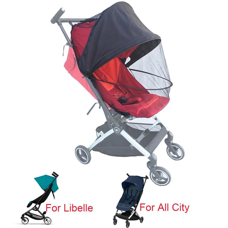 عربة أطفال مصممة خياط مقاس 1:1 ملحقات شبكة للحماية من البعوض مع واقي للشبهات gb POCKIT + جميع المدن Cybex Libelle