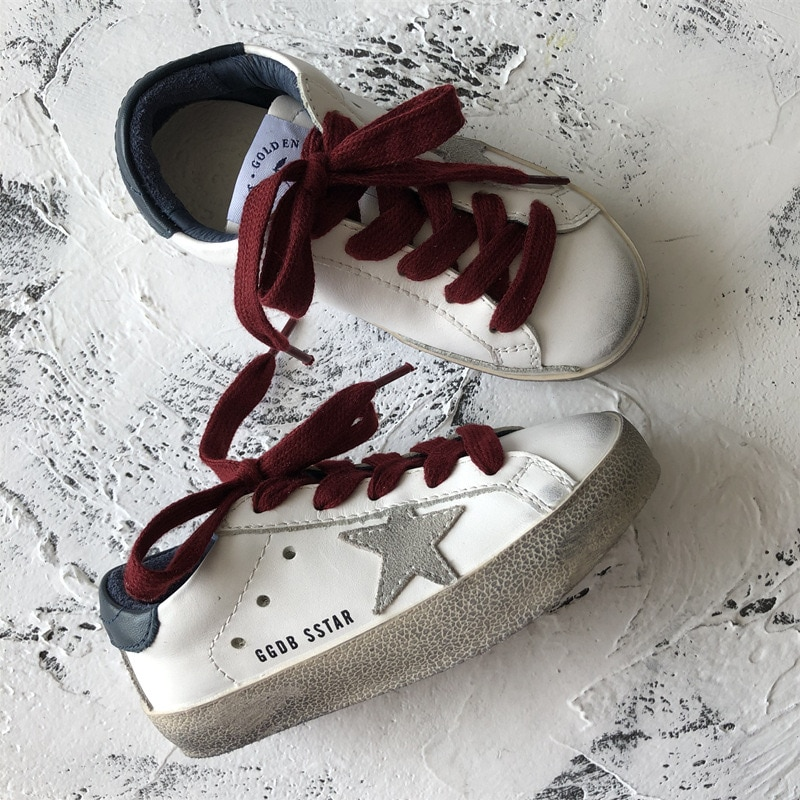 2021 Spring and Summer New First Layer Cowhide Children Retro Old Small Dirty Shoes Boys and Girls Casual Kids Sneakers CS188 enlarge
