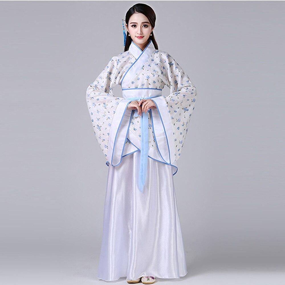 Ancient Chinese Costume Traditional Red Blue White Hanfu Han Tang Ming Dynasty Cosplay Dress Plus Size Festival Women Clothes