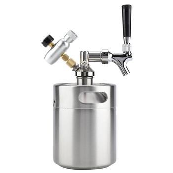 System for fermenting storing dispensing craft beer