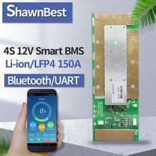 smart bms 4s 12v 150a Balancing board lifepo4/lipo solar inverter Bluetooth Electronic NTC app battery indicator pcm