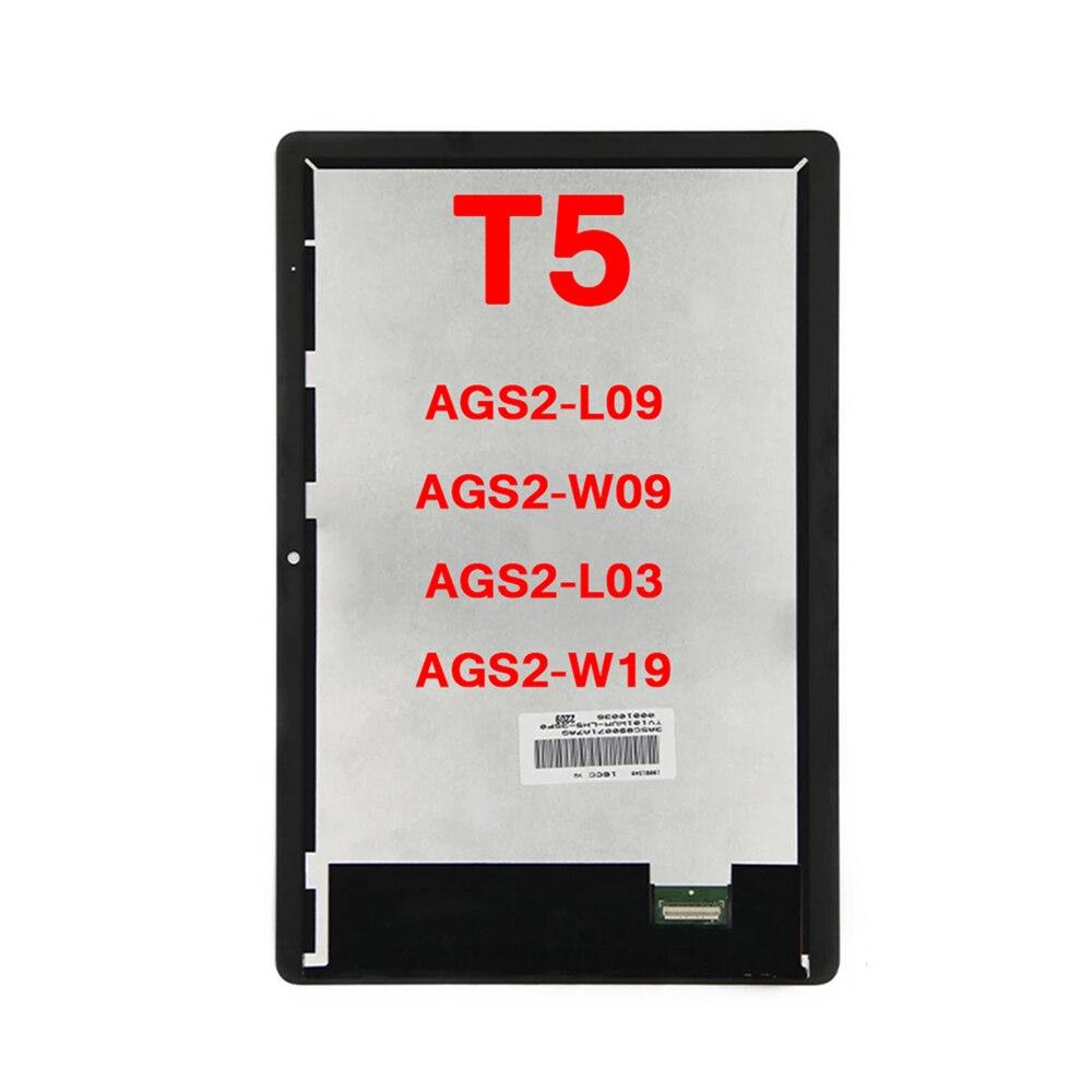 LCD عرض تعمل باللمس محول الأرقام شاشة استبدال الجمعية لهواوي Mediapad T5 10 AGS2-AL00HA AGS2-W09 اللوحي أجزاء اكسسوارات