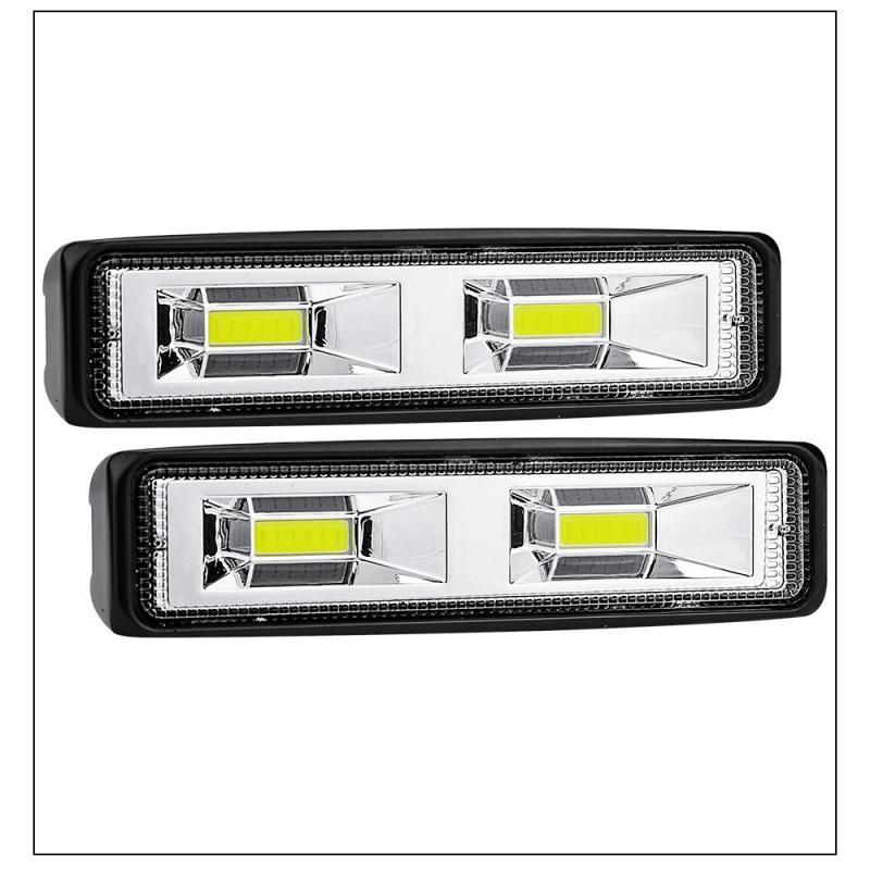 2PCS 12V 48W LED Light Bar Work Light Spotlight Car Lamps For Off Road Truck Tractor 4WD 4x4 SUV ATV Light Car Accessories TSLM2