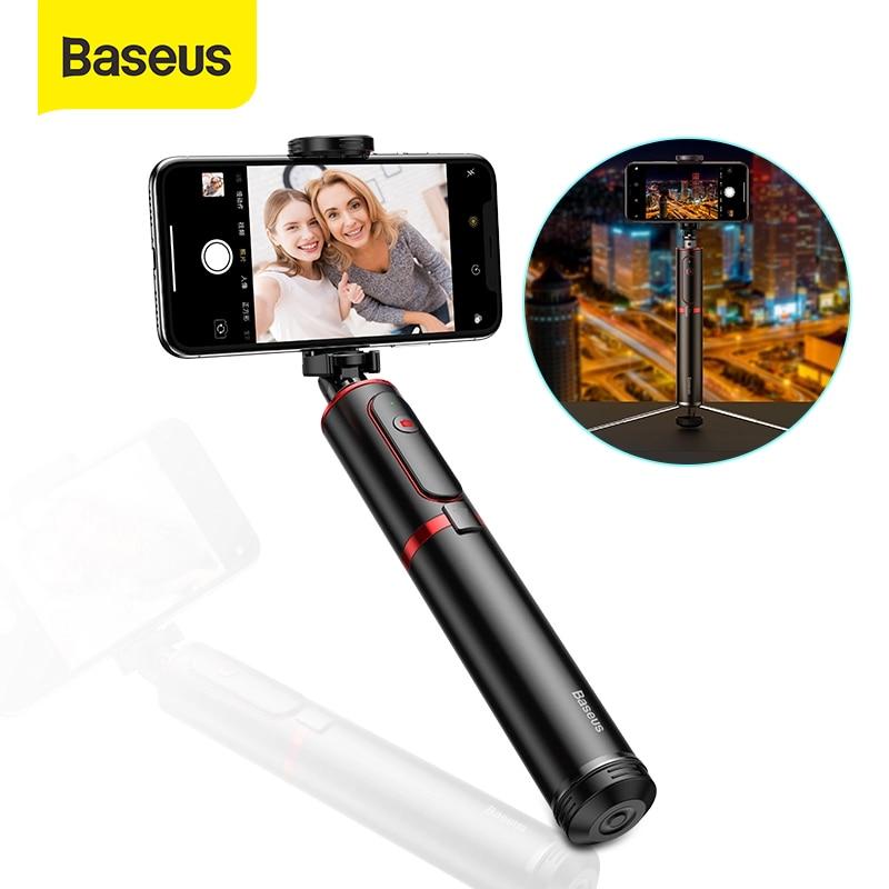 Baseus-عصا سيلفي بلوتوث لاسلكية مع حامل أحادي قابل للتمديد ، عصا سيلفي عن بعد ، حامل ثلاثي القوائم لهاتف iPhone Oneplus Huawei palo
