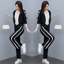 Sports Suit Women's Fashionable Elegant Casual Wear Spring and Autumn 2021 New Korean Style Autumn F