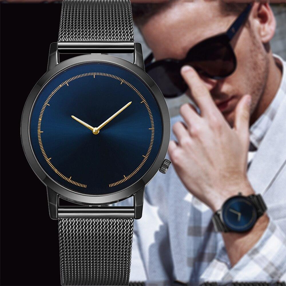 Fashion Men Watches Minimalist Men Luxury Quartz Wristwatches Stainless Steel Men's Bracelet Watch Male Clock Relogio Masculino