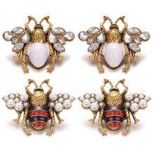 6 pièces/lot nouveau grand 18mm bouton pression bijoux Vintage or strass abeille 18mm boutons pression en métal ajustement 20mm 18mm bouton pression Bracelet