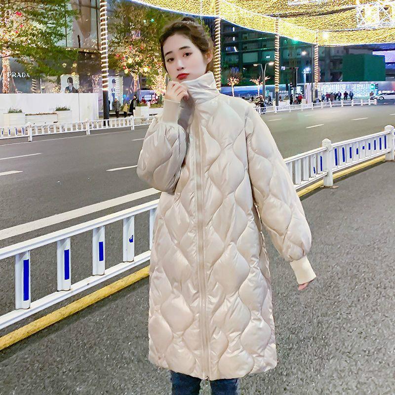 Новая модная женская куртка, длинная толстая стеганая куртка, женская зимняя длинная стеганая куртка, теплая Женская куртка