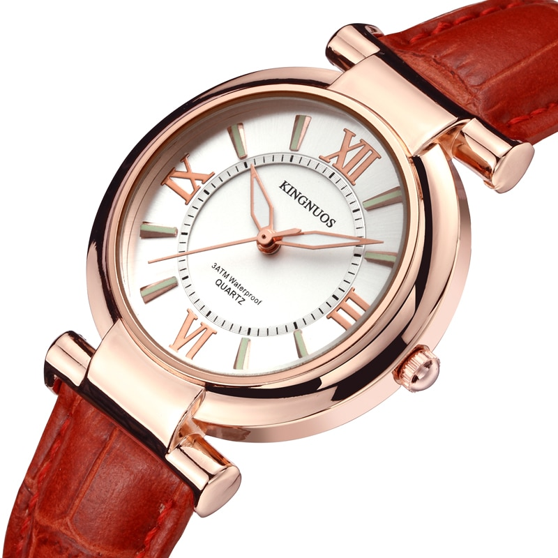 Watch Women luxury Fashion Casual 30 m waterproof quartz watches genuine leather strap sport Ladies elegant wrist watch girl yelang v1021 aviator serier t100 tritium tubes flourescent numbers 100m waterproof leather strap mens quartz wrist watch