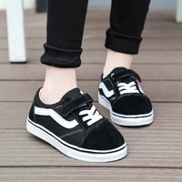 black kids sneakers boy casual shoes 2020 newly unisex hookloop pupils shoes fashion daughters shoes