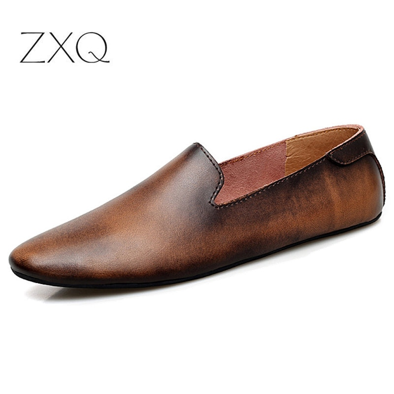 laisumk genuine leather casual shoes fashion men shoes breathable summer comfortable men real leather shoes slip on moccasins Men's Driving Shoes 2020 Men Genuine Leather Loafers Shoes Fashion Handmade Soft Breathable Moccasins Flats Slip On Shoes