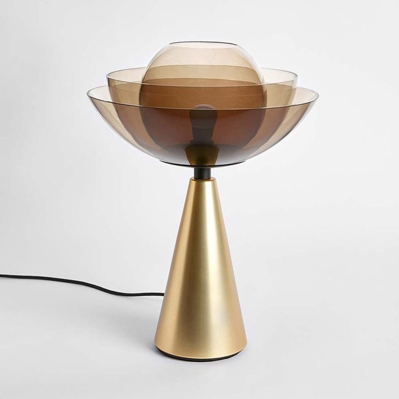 Lámpara de madera de mesa led con bola de cristal moderna, sala de estar led para lámpara de escritorio, comedor, lámpara de noche