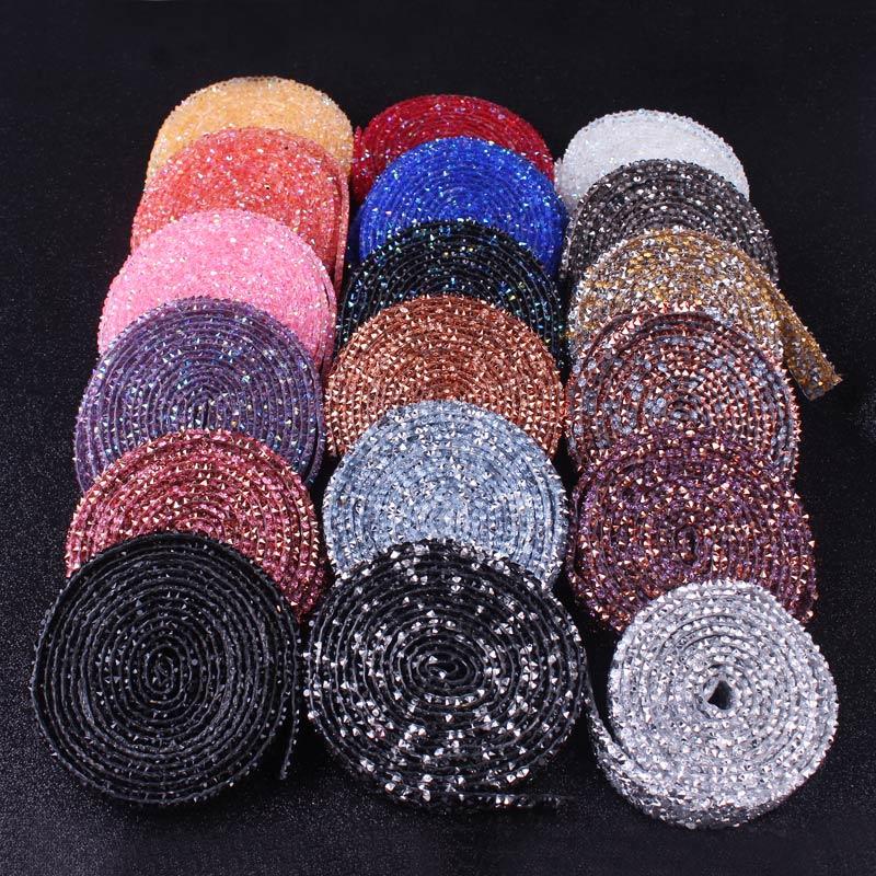 Стразы для рукоделия, много цветов, стразы с кристаллами, серебристые стразы, отделка, 1 ярд, ширина 1,5 см, 3 см, стразы для обрезки ремня