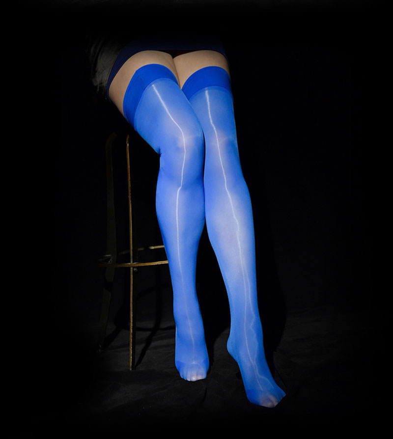 Sexy Candy Color Oil Shiny High Stockings Vintage Glossy Stocking Sexy Tight Shaping Elastic Sexy Stockings Over Knee Plus Size