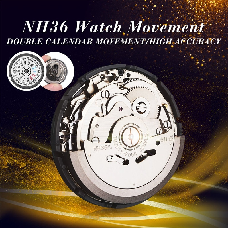 High Accuracy Automatic Watch Movement Mens Parts Mechanical Watch Movement NH36 Movement Watch Repl