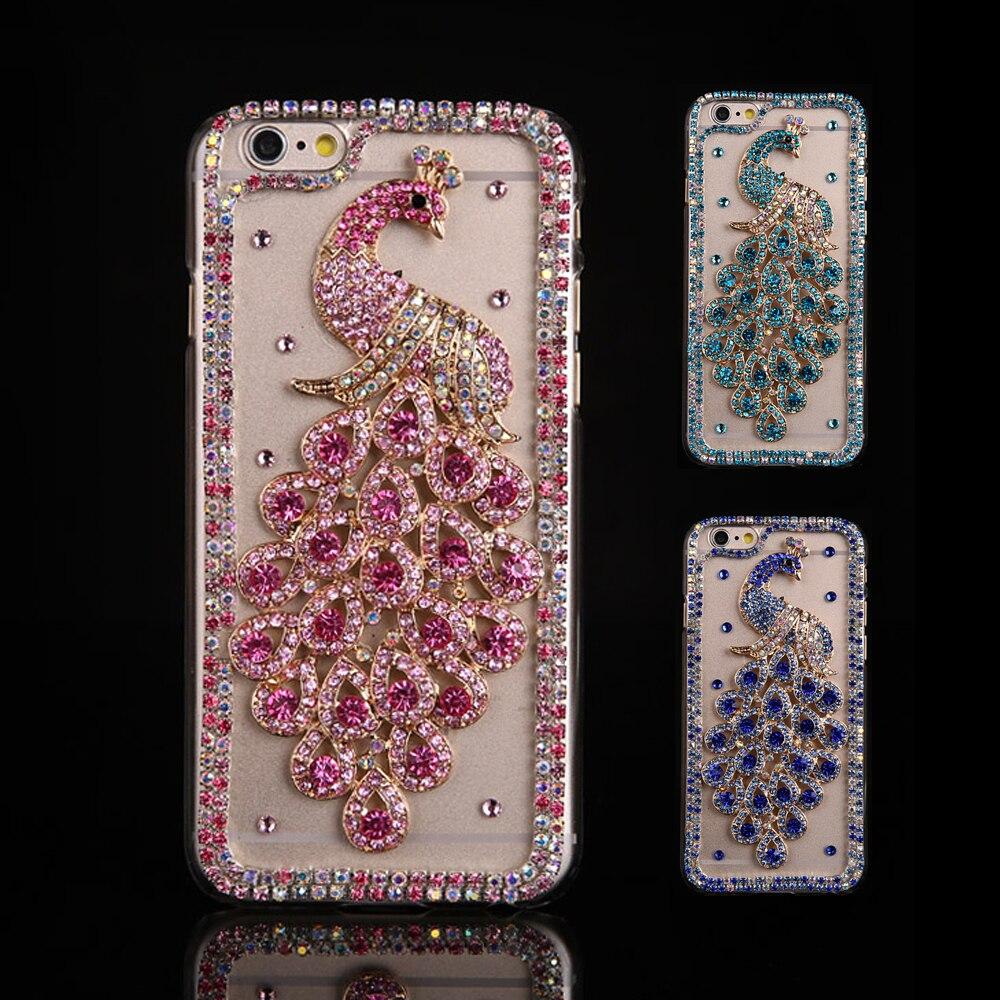 Sunjolly pavão strass caso para iphone 11 pro max bling diamante capa de telefone coque para iphone xs max xr x 8/7 6s/6 plus 5S