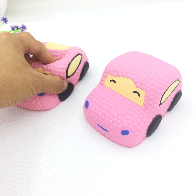 1Pc Jumbo Kawaii Cartoon Car Soft Slow Rising Creative Bread Scented Soft Squeeze Toy Anti-Stress Crush for Kid Xmas Funny Gift enlarge