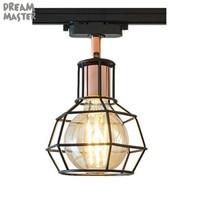 E27 bulbs Led Track light aluminum Ceiling Rail Track lightingRail Spotlights Replace Halogen Lamps for clothes Store LAMP