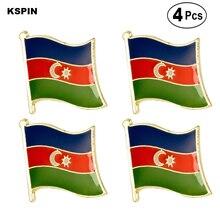 Azerbaijan Flag Pin Lapel Pin Badge  Brooch Icons 4PC