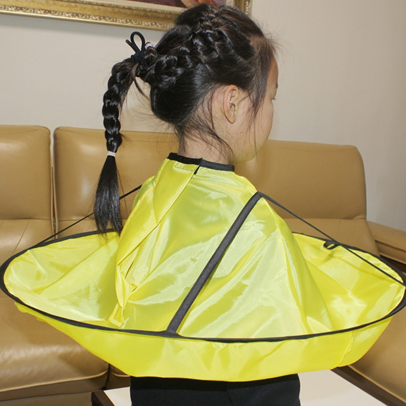 1PC Foldable Hair Cutting Cloak Umbrella Cape Waterproof Haircut Gown Apron Adult Kids tool Home Hai