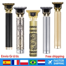 Electric LCD Hair Clippers Rechargeable Beard Trimmer Men Vintage T9 Hair Cutting Machine Cordless B