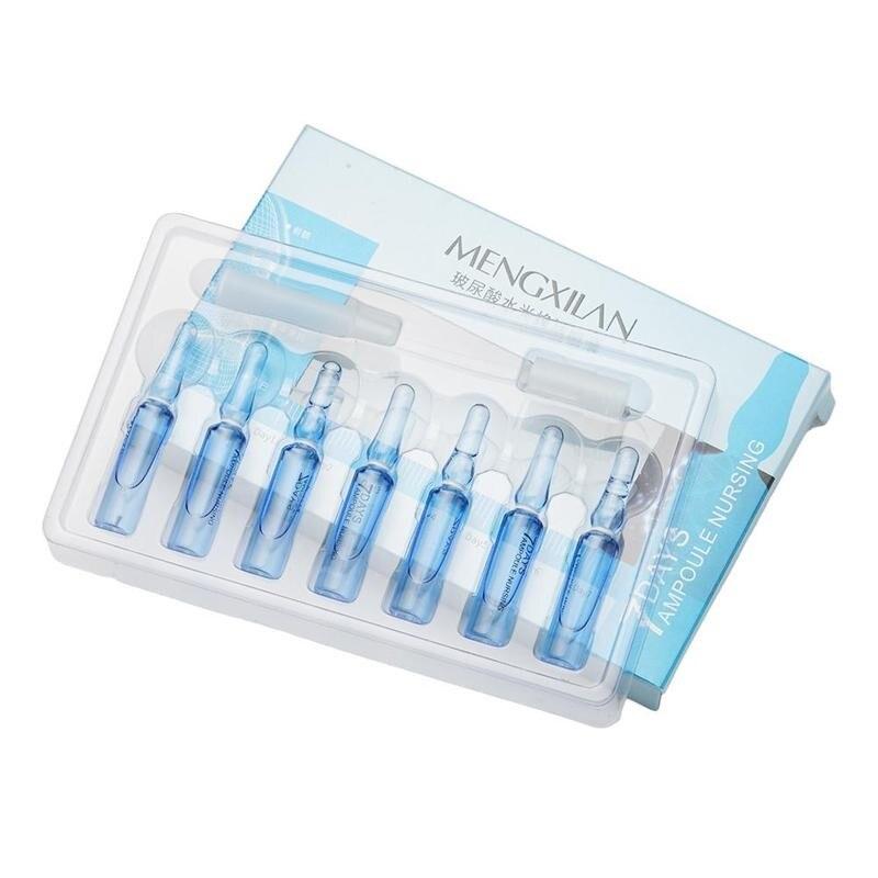 2ml*7 Hyaluronic Acid Essence Moisturizing Serum Anti-aging Shrink Pore Lifting Whitening Brighten S