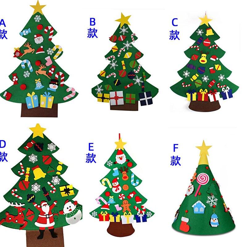 2020novo ano 3d diy sentiu árvore de natal brinquedos presentes da criança artificial natal ano novo decorações de natal ornamentos pendurados