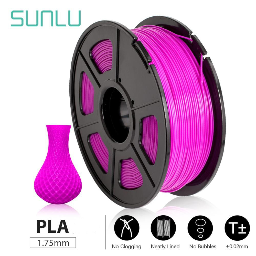 SUNLU 3d printer filament PLA/PLA PLUS 1kg 1.75mm 1KG/2.2lb Spool  DIY best gift printing by harmless material