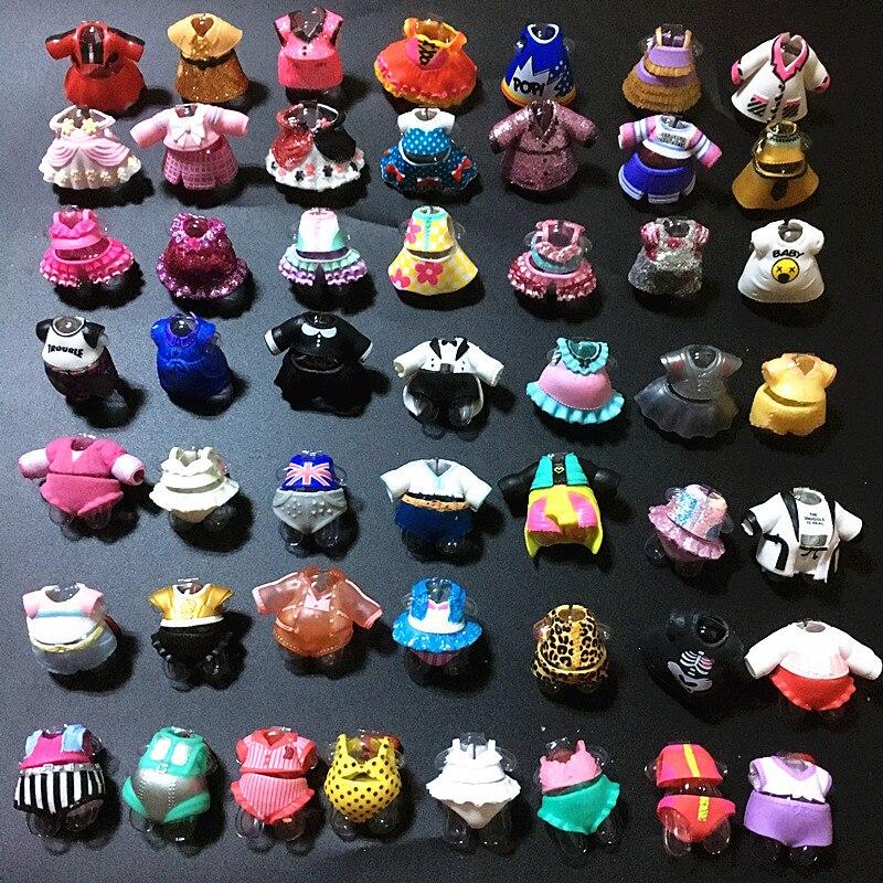 Aleatorio 3 unids/lote Original LOL vestido de sorpresa trajes para 8cm Big Sister muñecas niños colección juguete niña cumpleaños regalo
