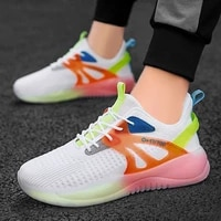 new mens summer sports shoes outdoor casual running shoes breathable mesh walking shoes black sports shoes white sports shoes