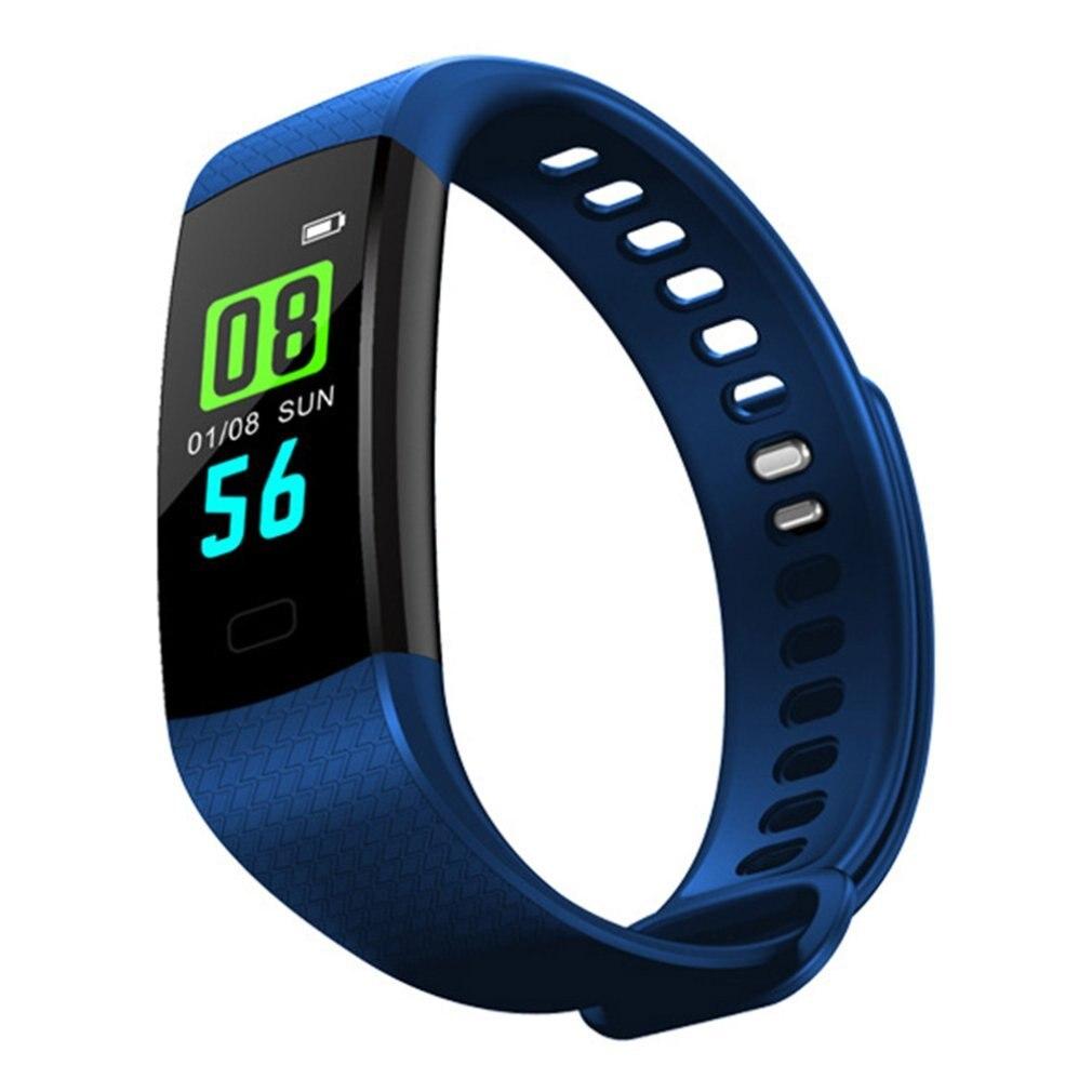 Y5 pulsera inteligente ritmo cardíaco Monitor de presión arterial rastreador de Fitness pulsera inteligente reloj inteligente podómetro impermeable