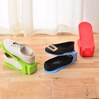 6Pcs/2pcs Double Shoe Rack Not Adjustable Slipper Organizer Range Shoe Holder Storage Stand Space Saver Plastic Shelf for Sandal