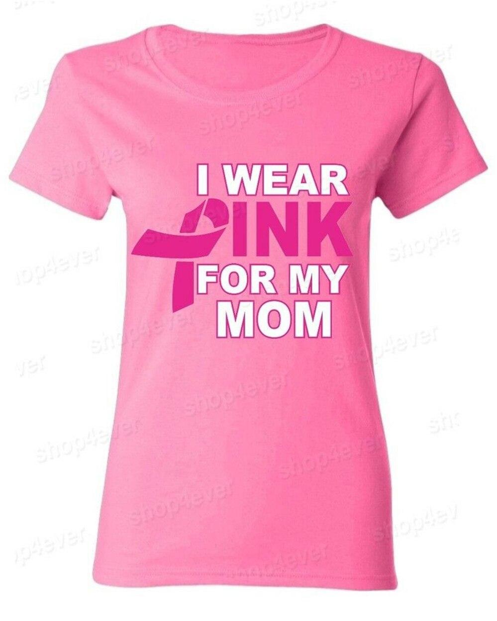 Я ношу розовые футболки для моей мамы, женские футболки для мужчин и женщин с розовой лентой, футболки с раком груди, футболки с индивидуальн...