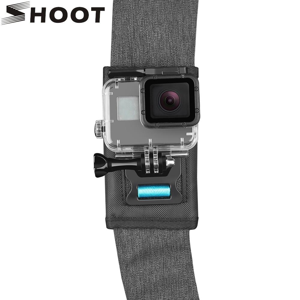SHOOT 360 Degree Rotary Backpack Clip Mount for GoPro Hero 10 9 8 Black Xiaomi Yi 4K Sjcam H9r Insta360 Shoulder Belt Accessory portable 360 degree rotary backpack hat clip clamp mount for gopro hero 4 3 3 2 for sj4000 sj6000 at200 camera accessory
