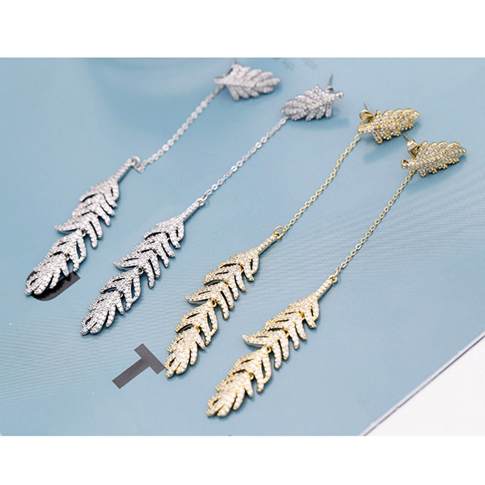 925 Sterling Silver Micro Inlay Monaco Jewelry Tassel Earring  Charm Fashion 2021 New Trendy Ladies Party Gifts