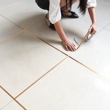 Bande adhésive à couture de sol 50 mètres   Bande adhésive à fente murale imperméable, bande adhésive en aluminium de cuivre, autocollant à couture de beauté, décoration de la maison