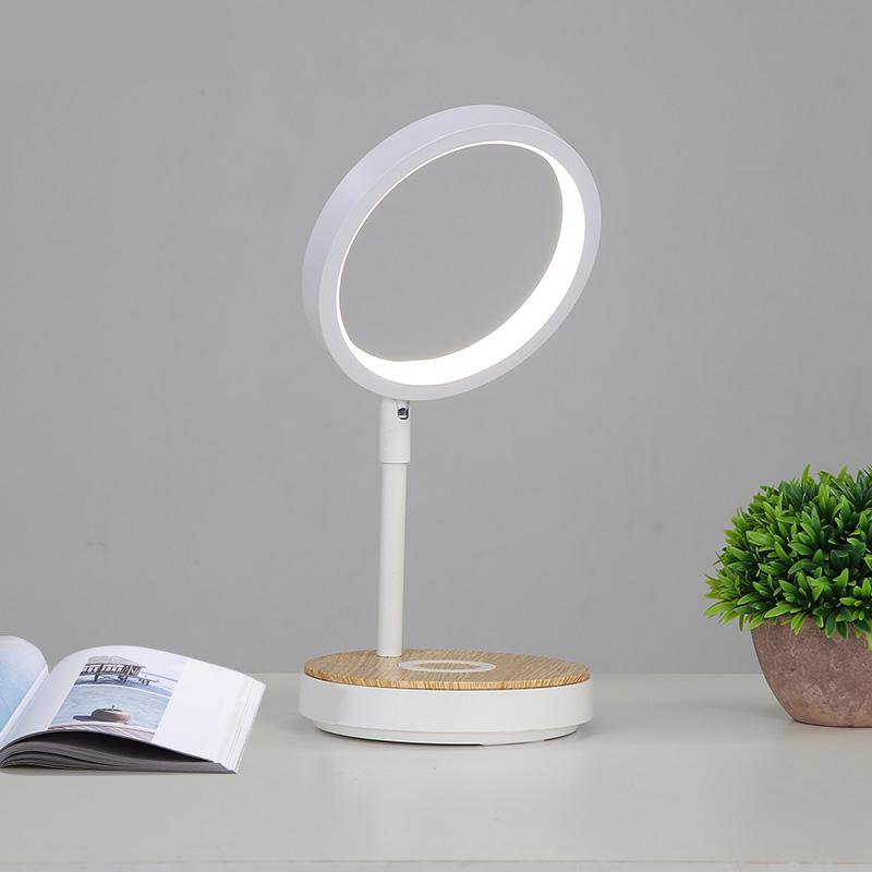 220v Table Lamp with Power Bank Reading Light Bedside Desk Study Wireless Charging Touch Dimming Lighting Nightstand Lamp