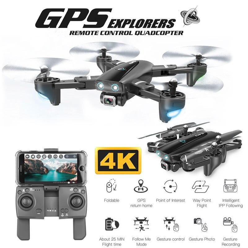 طائرة بدون طيار GPS 4K 16MP ، كاميرا HD ، اتبعني ، WIFI FPV RC كوادكوبتر ، قابلة للطي ، صورة شخصية ، فيديو مباشر ، صيانة الارتفاع ، إرجاع تلقائي