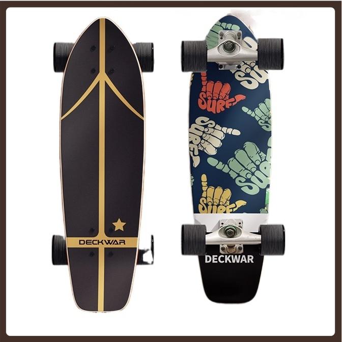 4 Wheels Long Board Skateboard Deck Scooter Freestyle Land Surfboard Professional Street Planche De Skate Sports Equipment