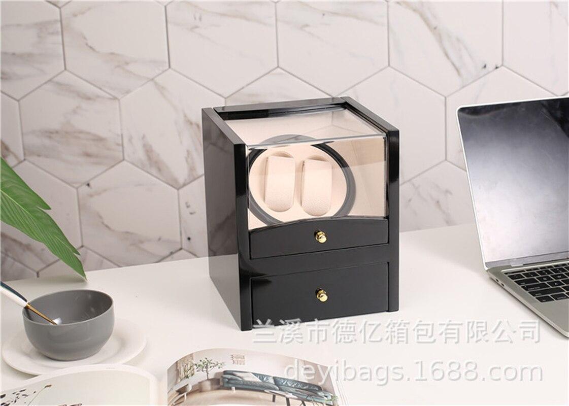 Automatic Watch Winders Box Rotator Watchwinder High-Gloss Paint Double Watch Cabinet Organizer Luxury Mute Winding Storage Box enlarge