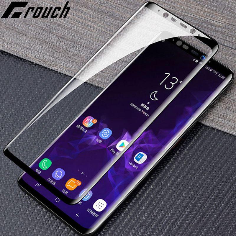 20D curvo de cristal templado en El para Samsung Galaxy A50 A40 A70 A30 A10 A8 A7 A20 M 20 30 protector de pantalla película protectora de vidrio