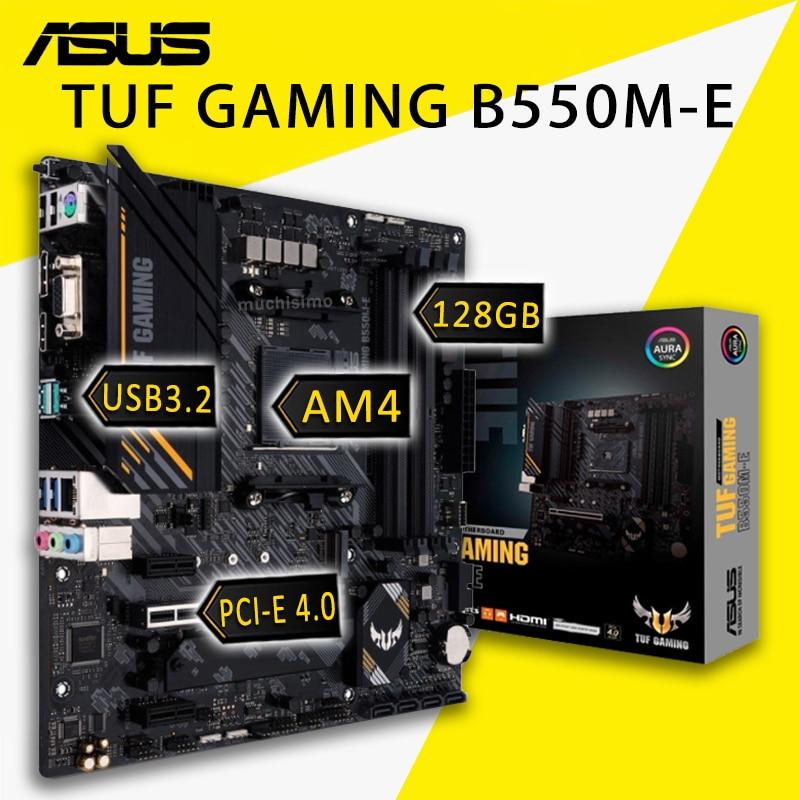 Review Socket AM4 Asus TUF GAMING B550M-E Motherboard AMD Ryzen 5000/4000G/3000 DDR4 128GB PCI-E 4.0 PC AMD B550 Gaming Placa-mãe AM4