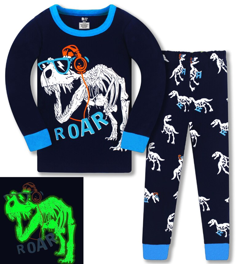 2021 children Autumn Pajamas clothing Set Boys Aircraft Cartoon Sleepwear Suit kids long-sleeved+pant 2-piece baby clothes