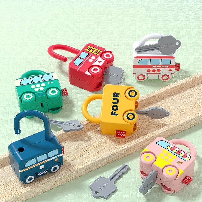 Игрушки Монтессори с замком, детские игры, учебные пособия, Детские обучающие игрушки, игры Монтессори, детские игрушки, обучающие игрушки д...