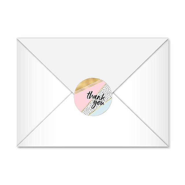 500 PCS Thank You Stickers Per Roll 1 inches Modern Thank You Stickers 8 Different Designs 2