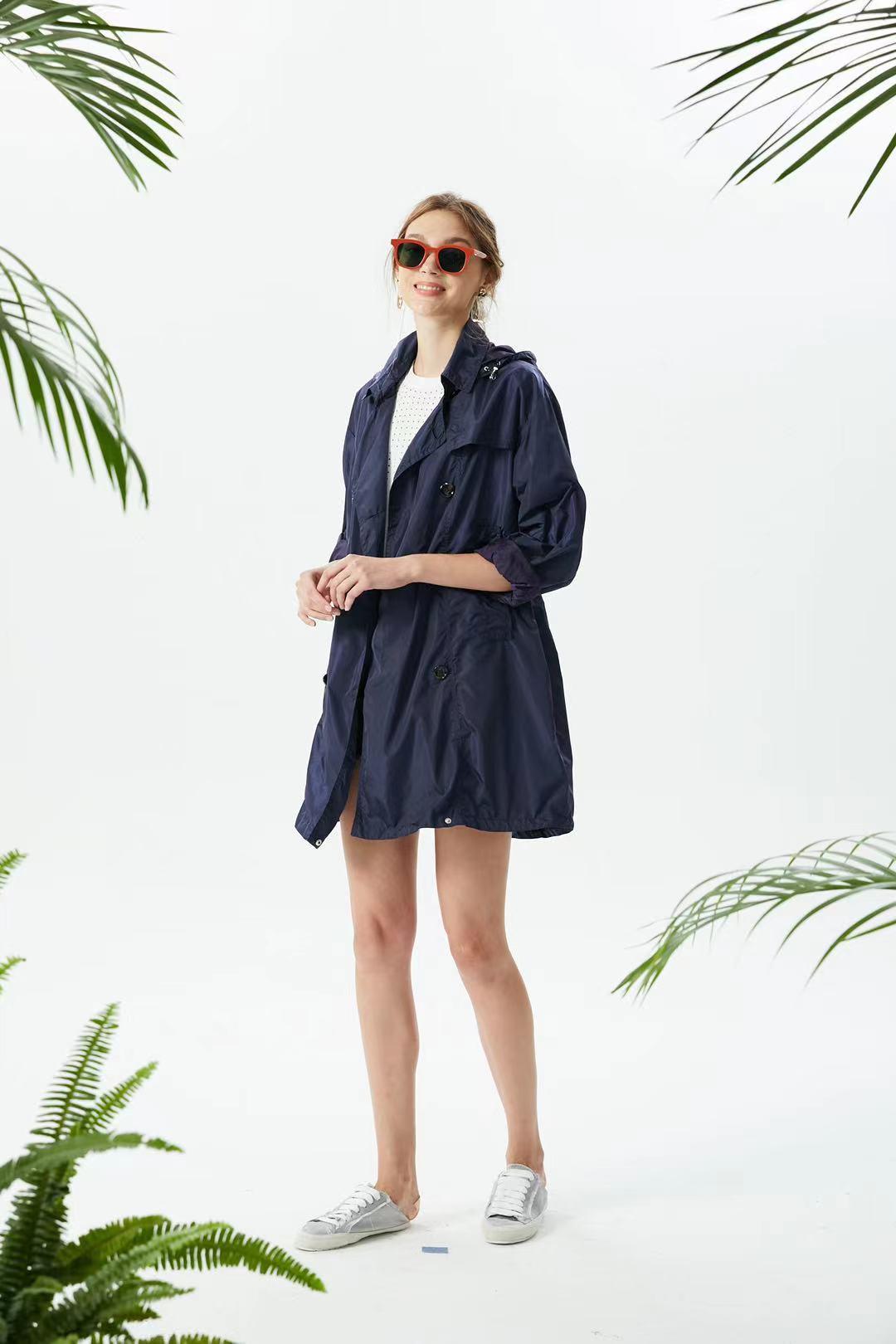 Женская одежда, ветровка, куртка, женский свободный тонкий дождевик оверсайз с капюшоном, Женская дождевая куртка, Женский Тренч оверсайз