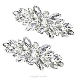 2pcs Shoe Clip Wedding Shoes High Heel Women Bride Decoration Rhinestone Shiny Decorative Clips Charm Buckle O31 20 Dropshipping