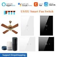 1-5 pieces Tuya EU US Wifi commutateur de ventilateur de plafond intelligent avec telecommande APP vie intelligente  minuterie  automatisation  avec Alexa Google Home IFTTT