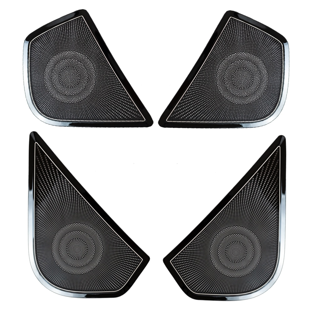 4Pcs Stainless Steel Car Door Speaker Horn Cover Trim Car Accessories Decorative For Ford RANGER 2015 2016 2017 2018 2019 enlarge