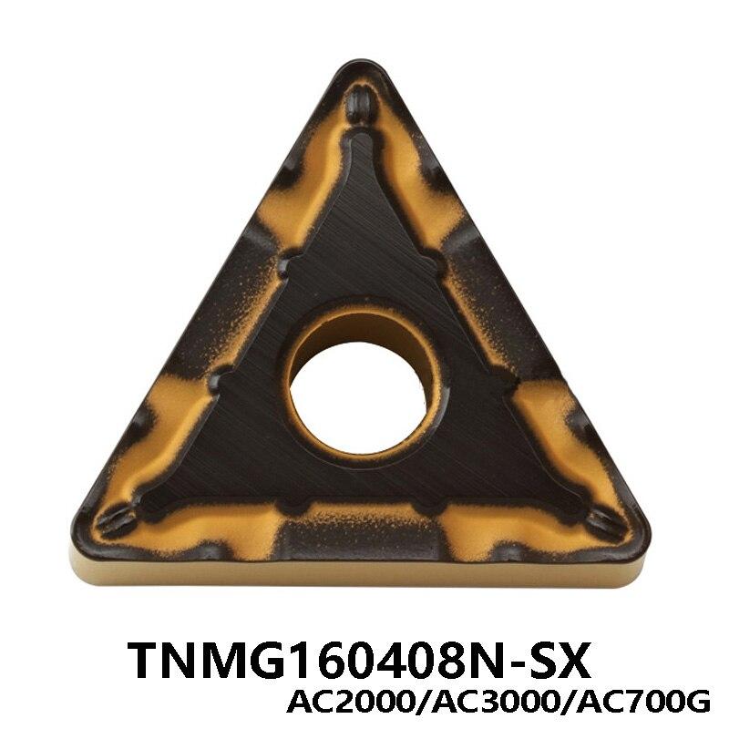 الأصلي TNMG160408N-SX AC2000 AC3000 AC700G كربيد TNMG160408 TNMG 160408 TNMG1604 تحول أدوات CNC